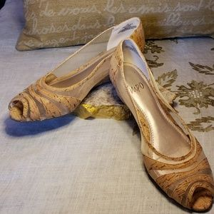 🌾 impo Cork style Wedges Size 7 M